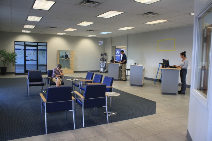 The newly-renovated Butler Hyundai service lounge... It's coming together!